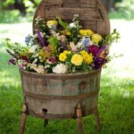 деревянная емкость для цветов
