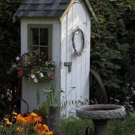 оформление садового туалета