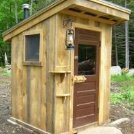 туалет для дачи из дерева
