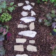 Shade Garden Stepping Stone Path