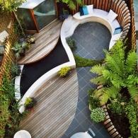 стиль модерн в обустройстве маленького участка сада